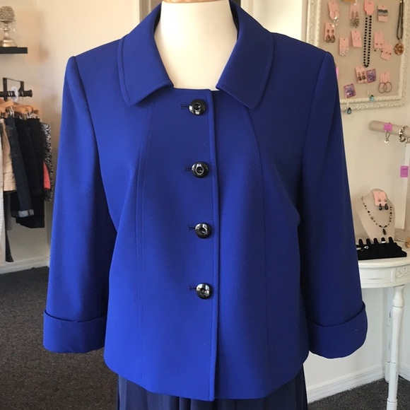 Tahari Jackets & Blazers - Tahari Arthur Levine Royal Blue Suit Jacket